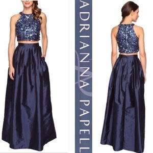 Adrianna Papell two piece skirt set